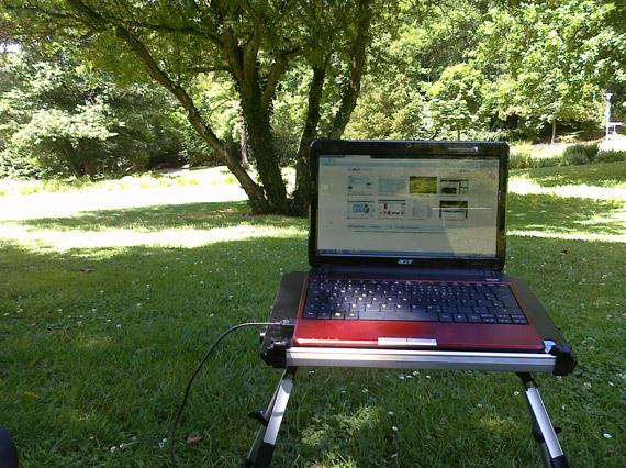 Mein Arbeitsplatz im Deutsch-Französischen Garten